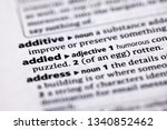 Small photo of Blurred close up to the partial dictionary definition of Addled