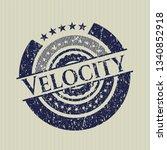 blue velocity distress rubber...   Shutterstock .eps vector #1340852918