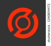 digital logo design template.... | Shutterstock .eps vector #1340854472