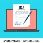 non disclosure agreement... | Shutterstock .eps vector #1340860238