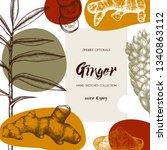 hand drawn ginger illustration. ... | Shutterstock .eps vector #1340863112
