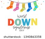 world down syndrome day. | Shutterstock .eps vector #1340863358