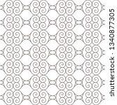 seamless monochrome interlaced... | Shutterstock .eps vector #1340877305