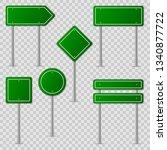 green road signs. information... | Shutterstock .eps vector #1340877722
