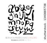 vector fonts   handwritten... | Shutterstock .eps vector #1340885738