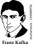 franz kafka   black and white ...   Shutterstock .eps vector #134088956
