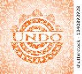 undo orange mosaic emblem with... | Shutterstock .eps vector #1340893928