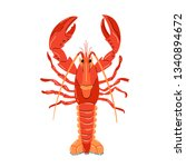 seafood illustration in cartoon ... | Shutterstock .eps vector #1340894672