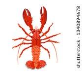 seafood illustration in cartoon ... | Shutterstock .eps vector #1340894678