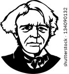 michael faraday  a british... | Shutterstock .eps vector #134090132