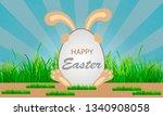 bunny for the big easter egg | Shutterstock .eps vector #1340908058