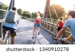 happy friends millennial having ... | Shutterstock . vector #1340910278