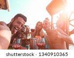 influencer taking selfie photo... | Shutterstock . vector #1340910365