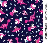 vector of seamless pattern with ...   Shutterstock .eps vector #1340919938