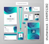 corporate identity template... | Shutterstock .eps vector #1340921282