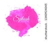 splatter watercolor colorful... | Shutterstock .eps vector #1340924045