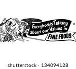 everybody's talking fine foods  ... | Shutterstock .eps vector #134094128