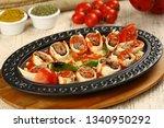 turkish food beyti kebap | Shutterstock . vector #1340950292