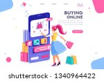 concept  buyer graphic ... | Shutterstock . vector #1340964422