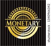 monetary golden badge or emblem | Shutterstock .eps vector #1340966342