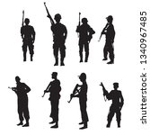 people soldiers with weapons... | Shutterstock .eps vector #1340967485