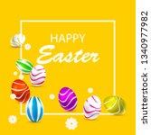 template from easter banner... | Shutterstock .eps vector #1340977982