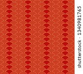 geometric seamless pattern in... | Shutterstock .eps vector #1340981765