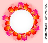 template with beautiful... | Shutterstock .eps vector #1340983922