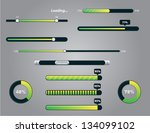 vector collection of buffering... | Shutterstock .eps vector #134099102