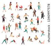 walking people characters.... | Shutterstock .eps vector #1340997578