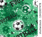 abstract seamless football...   Shutterstock .eps vector #1341007478