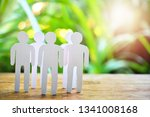 group paper people model for... | Shutterstock . vector #1341008168