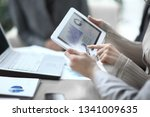 close up.the business team uses ... | Shutterstock . vector #1341009635