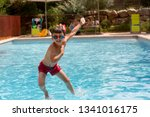 kdis  jump in water pool on... | Shutterstock . vector #1341016175