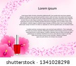 cosmetic background with red... | Shutterstock .eps vector #1341028298