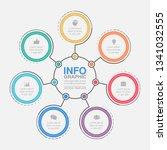 vector infographic template for ... | Shutterstock .eps vector #1341032555
