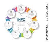 vector infographic template for ... | Shutterstock .eps vector #1341032558