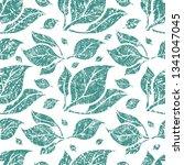 vector seamless floral grunge... | Shutterstock .eps vector #1341047045