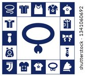collar icon set. 17 filled... | Shutterstock .eps vector #1341060692