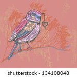 natural background with bird ... | Shutterstock .eps vector #134108048
