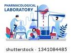 pharmacological laboratory... | Shutterstock .eps vector #1341084485