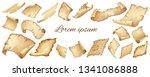 poster of flying or falling... | Shutterstock .eps vector #1341086888