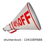 discount of forty percentage.... | Shutterstock . vector #1341089888