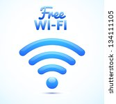 free wifi ison isolated | Shutterstock .eps vector #134111105