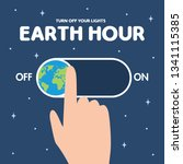earth hour is a worldwide... | Shutterstock .eps vector #1341115385
