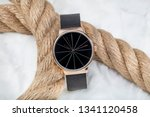 Luxury fashion Men's watches,  isolated on a white background.  - stock photo