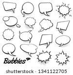 set of blank template in pop... | Shutterstock .eps vector #1341122705