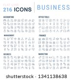 collection of vector line icons ... | Shutterstock .eps vector #1341138638