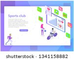 isometric concept   sport club... | Shutterstock .eps vector #1341158882
