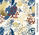 art abstract seamless pattern ... | Shutterstock .eps vector #1341161435